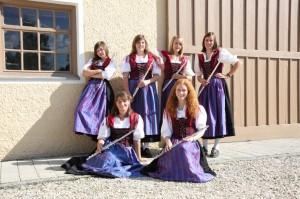 Hinten: Bettina Bachhofer, Svenja Kling, Sabrina Gestle, Stefanie Mutzel Vorne: Theresia Merkle, Stefanie Henkel