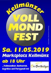 Plakat Vollmondfest Kellmünz