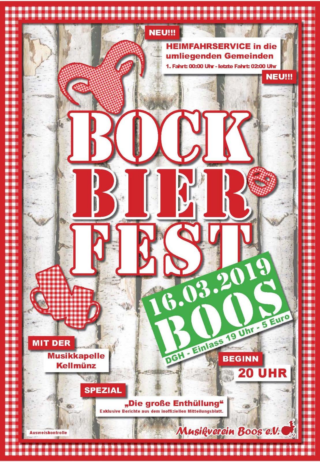 Plakat Bockbierfest in Boos