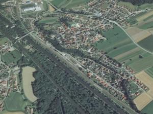 Luftbild von Kellmünz